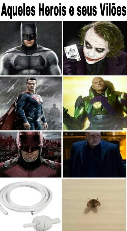 Heróis vs vilões - meme