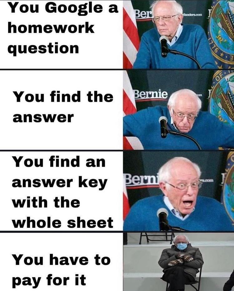 late Bernie meme