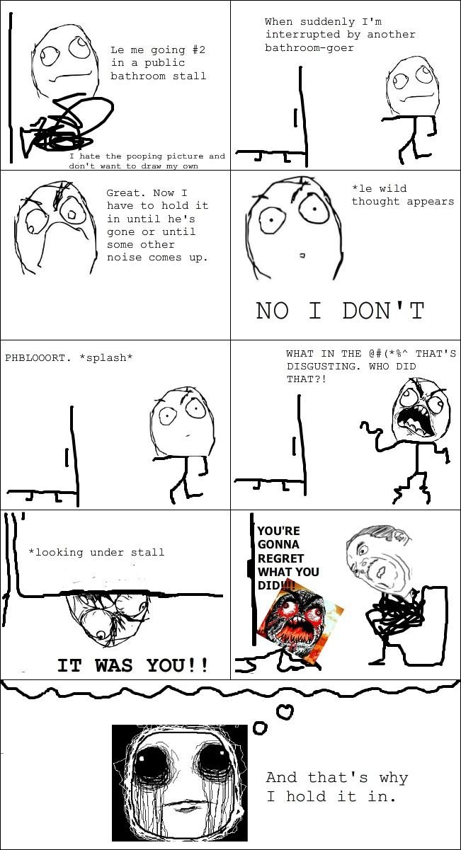 Don't poo in public. You'll die - meme