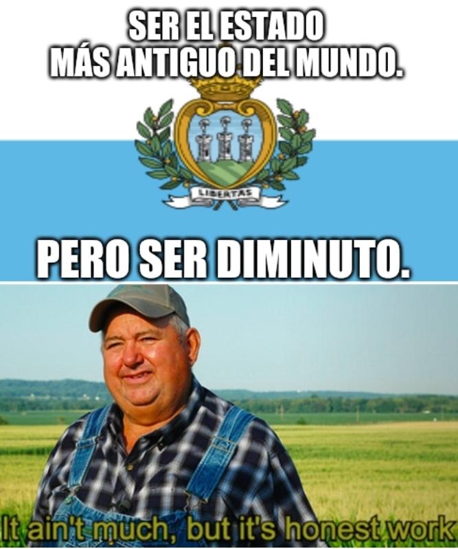 San Marino viejo y enano - meme
