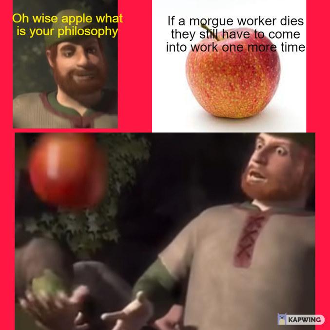 Wise apple - meme