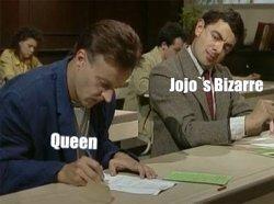 Contexto: Muchos personajes de JOJO tienen los nombres de canciones de Queen - meme