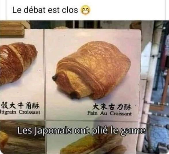 Petit pain croissant au chocolatine - meme