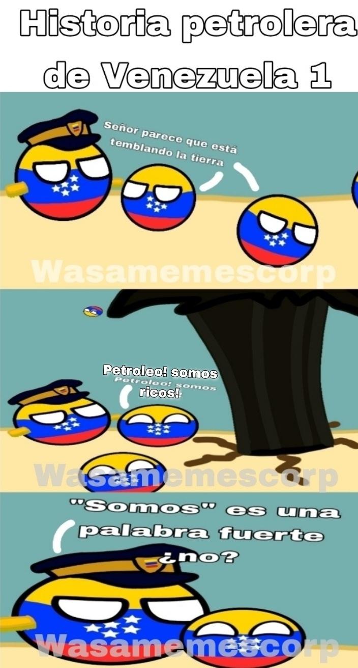 Viñeta de historia petrolera - meme