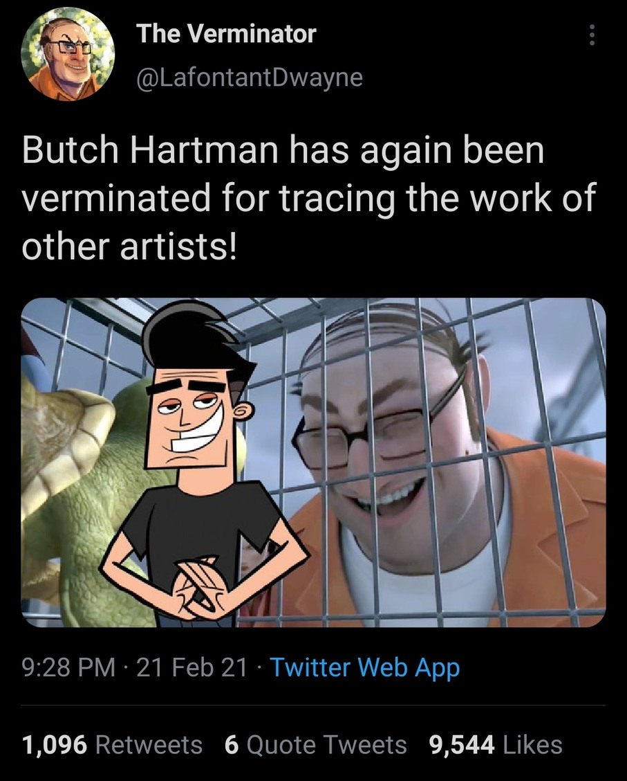 Butch hartman steal other artists traces - meme
