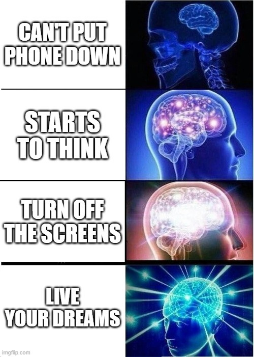 Screen Obsession is Real - meme