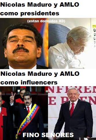 PRESIDENTES DE VENEZUELA Y MEXICO BE LIKE: - meme