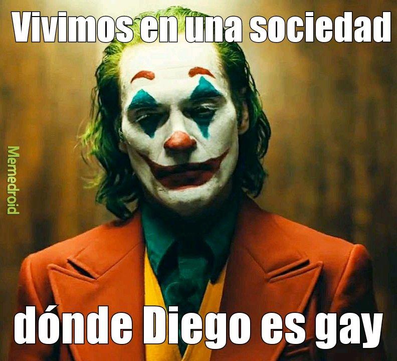 Diego es gay - meme