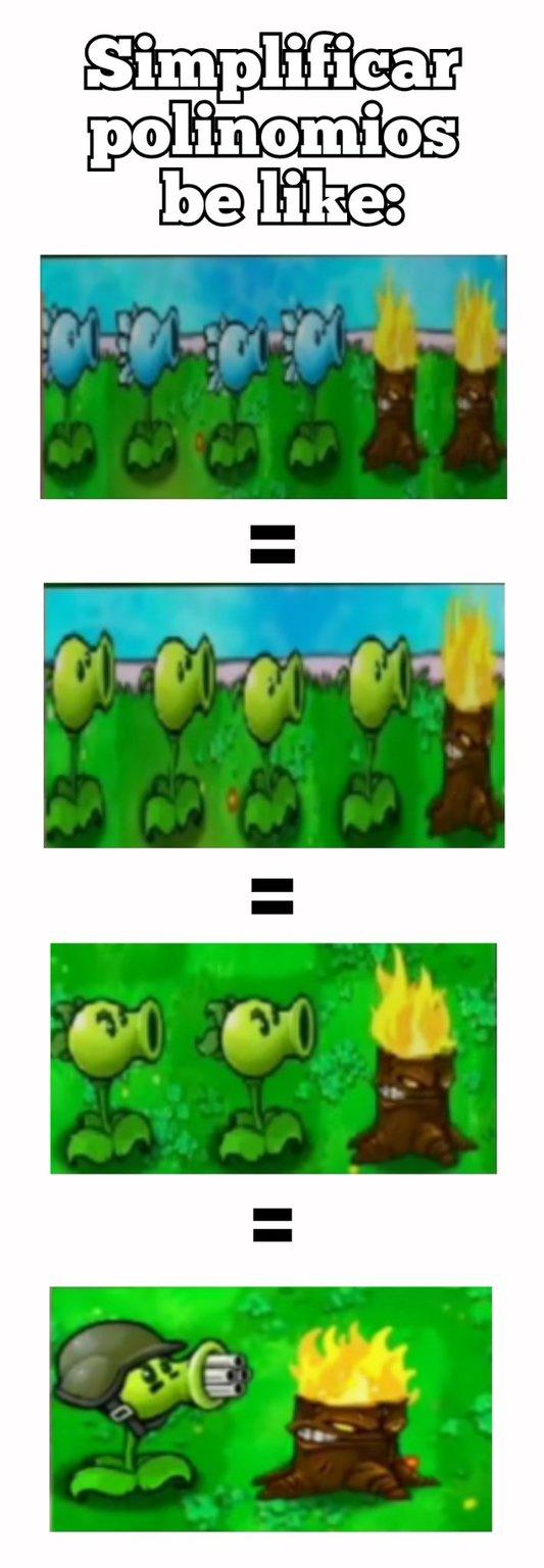 Matemáticas vs zombies - meme