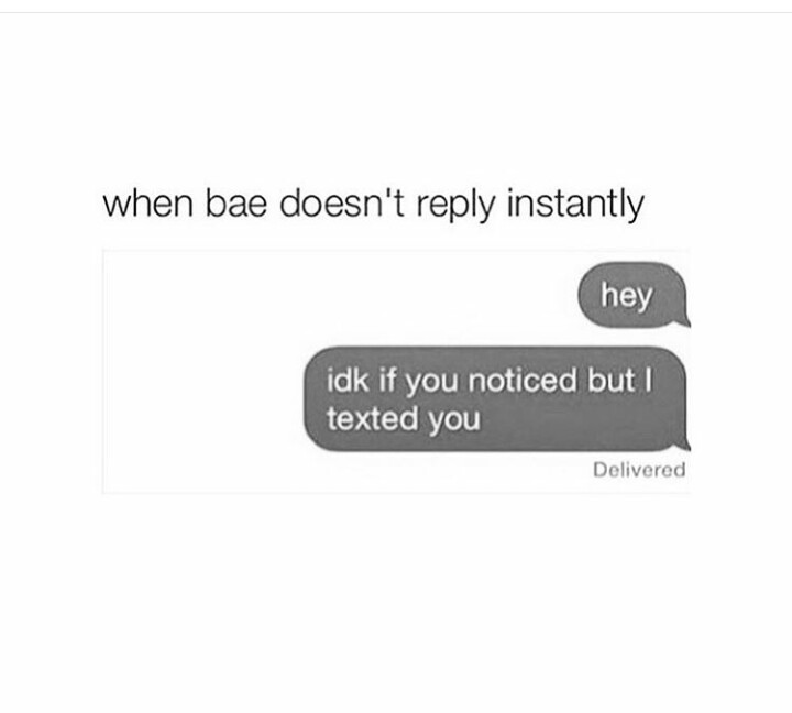 When they don't reply - meme