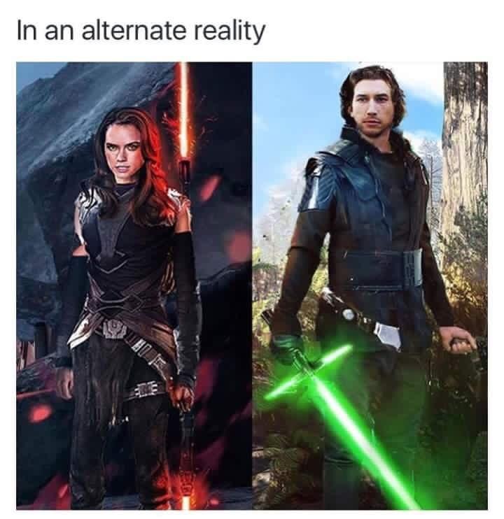 Ben Solo & Rey Ren - meme