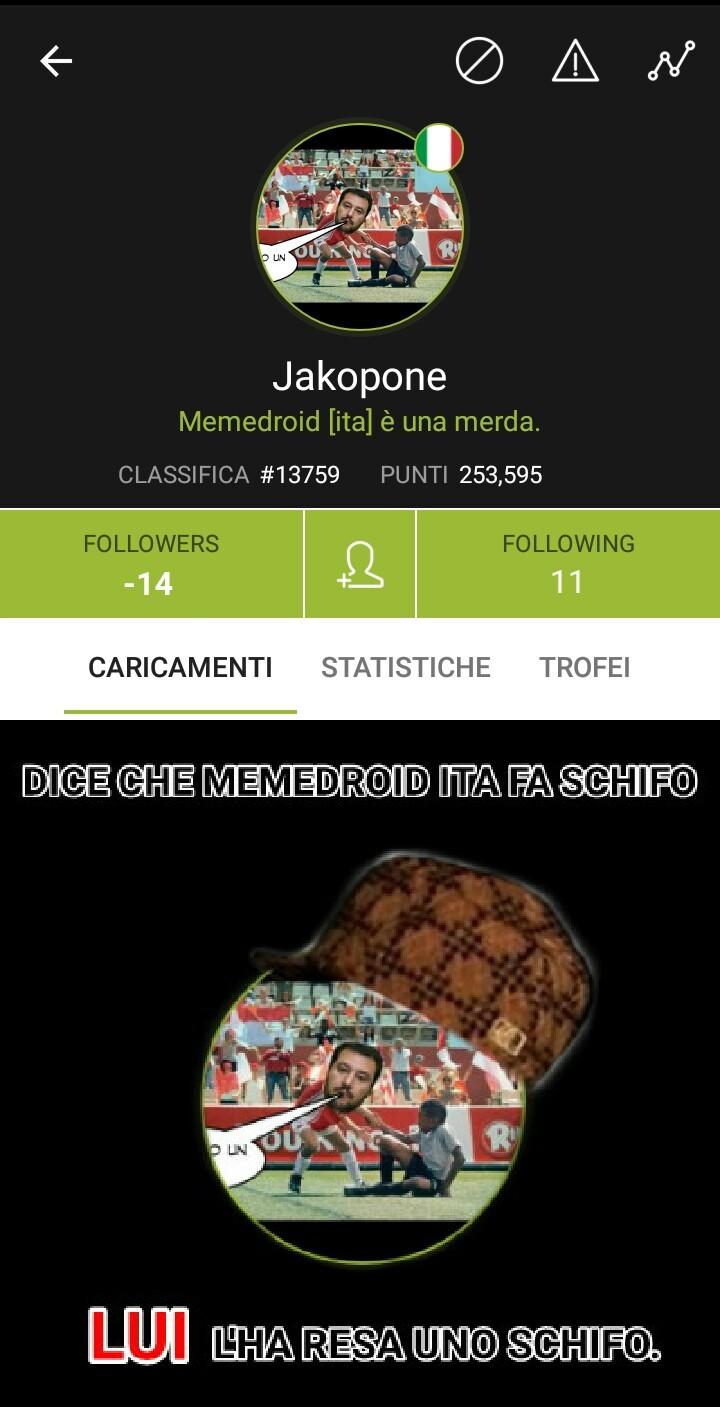 Jakopone è lo squallore di questa app. - meme