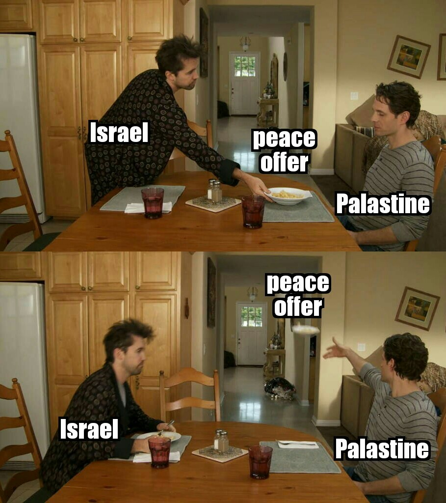 Israel and Palastine - meme