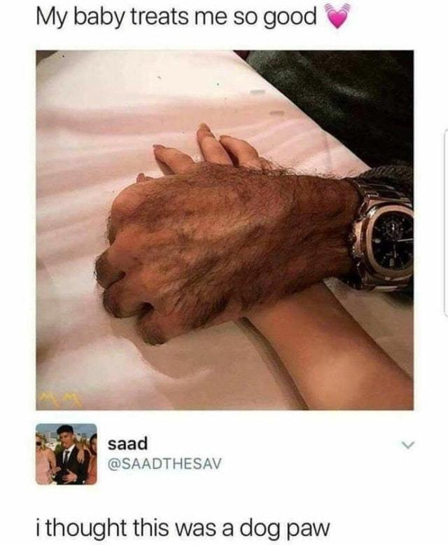 It looks like a dog paw - meme