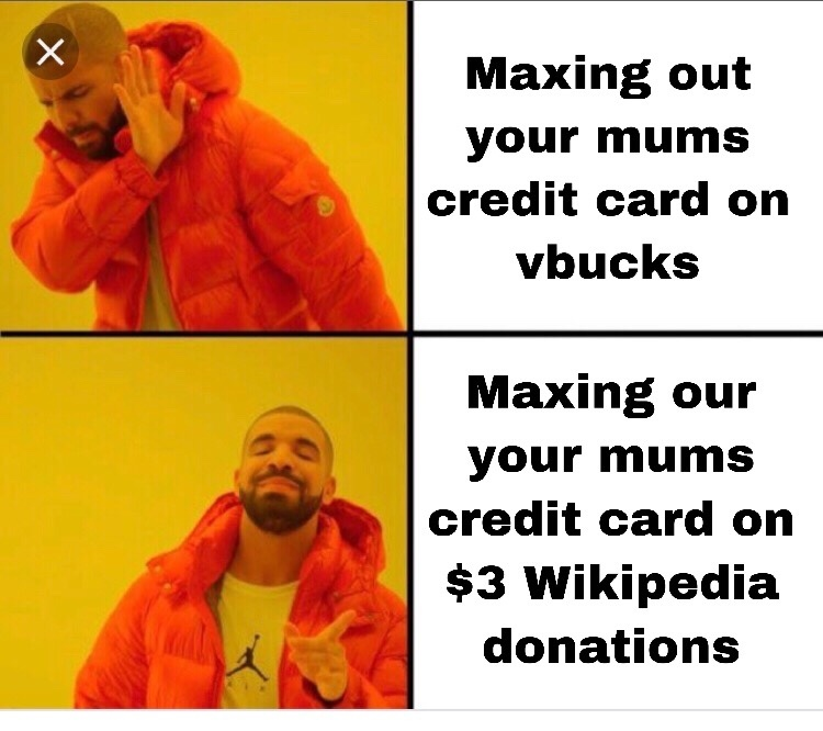 Wikipedia donations - meme