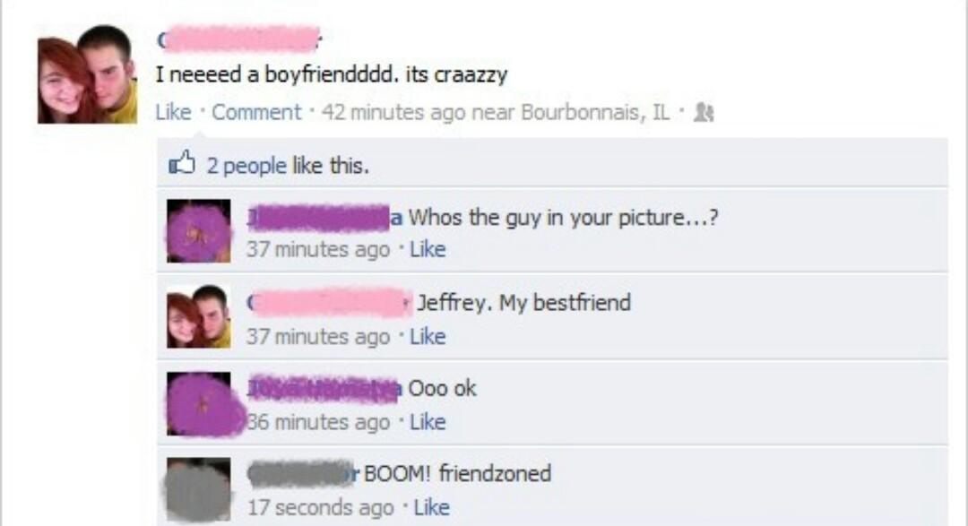 #friendzoned - meme