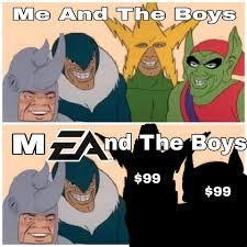mEA and the boys - meme
