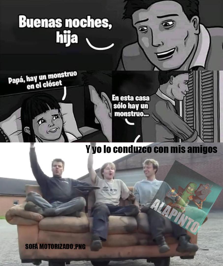 UN MONSTRUO EL SOFÁ - meme