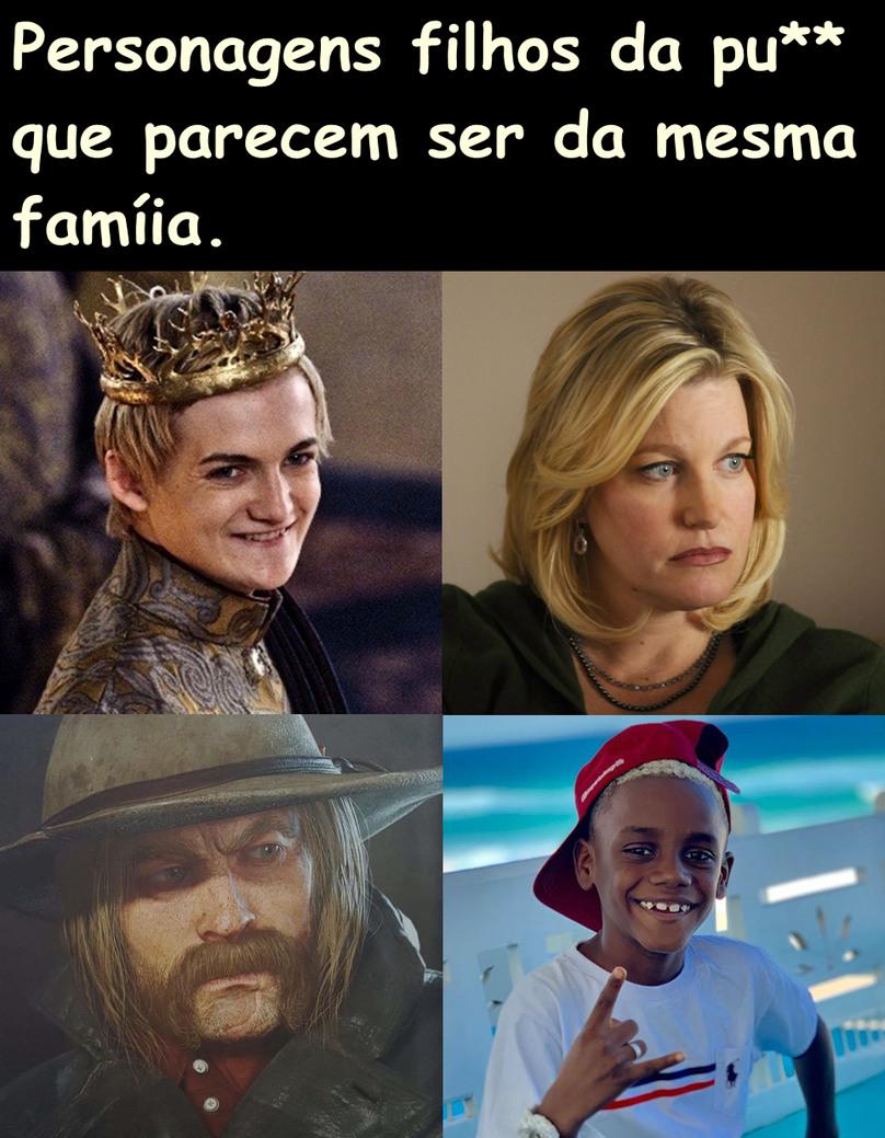 Joffrey, mulher do valter, Micah Bell, Afrodescendente filho do Neymar - meme