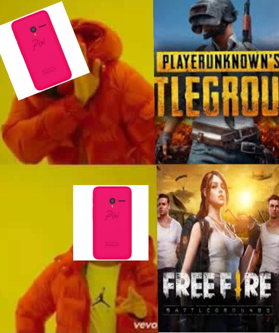 El Titulo esta jugando Free Fire en su Pixi. - meme