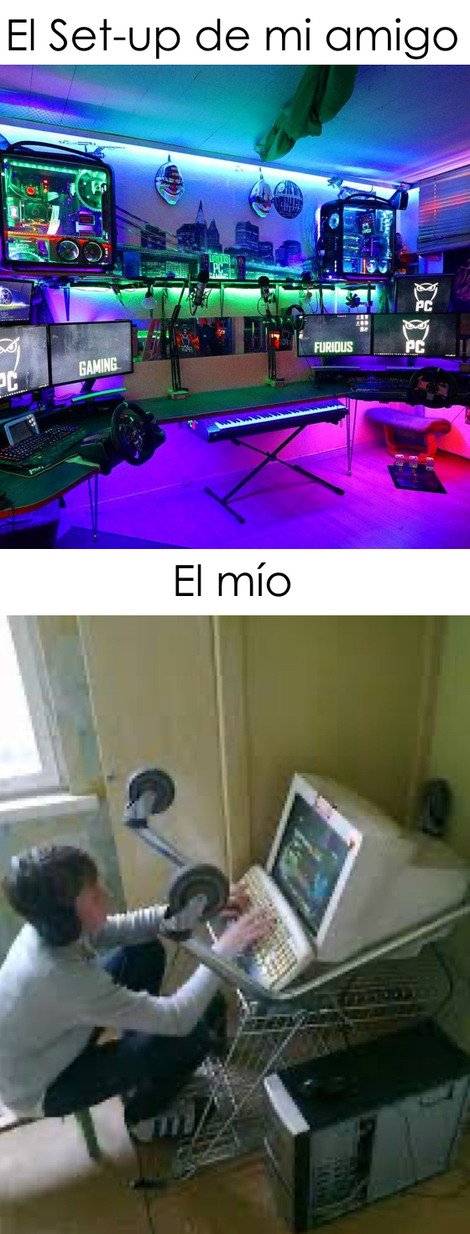 Los set-up son para ricos - meme