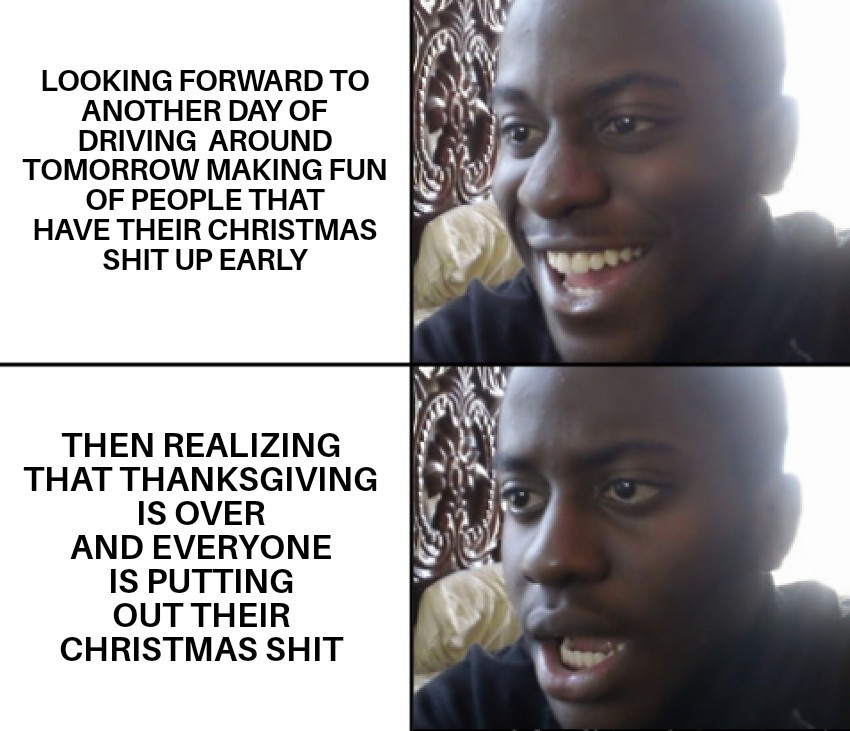 No more making fun of stores for having it out too early anymore either :( - meme