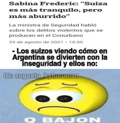 Ministra de inseguridad de Argentina - meme