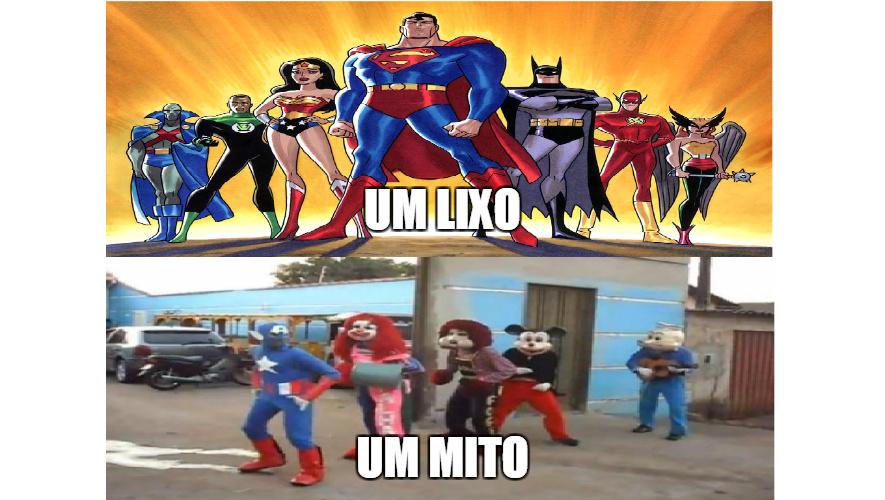 os verdadeiros herois - meme