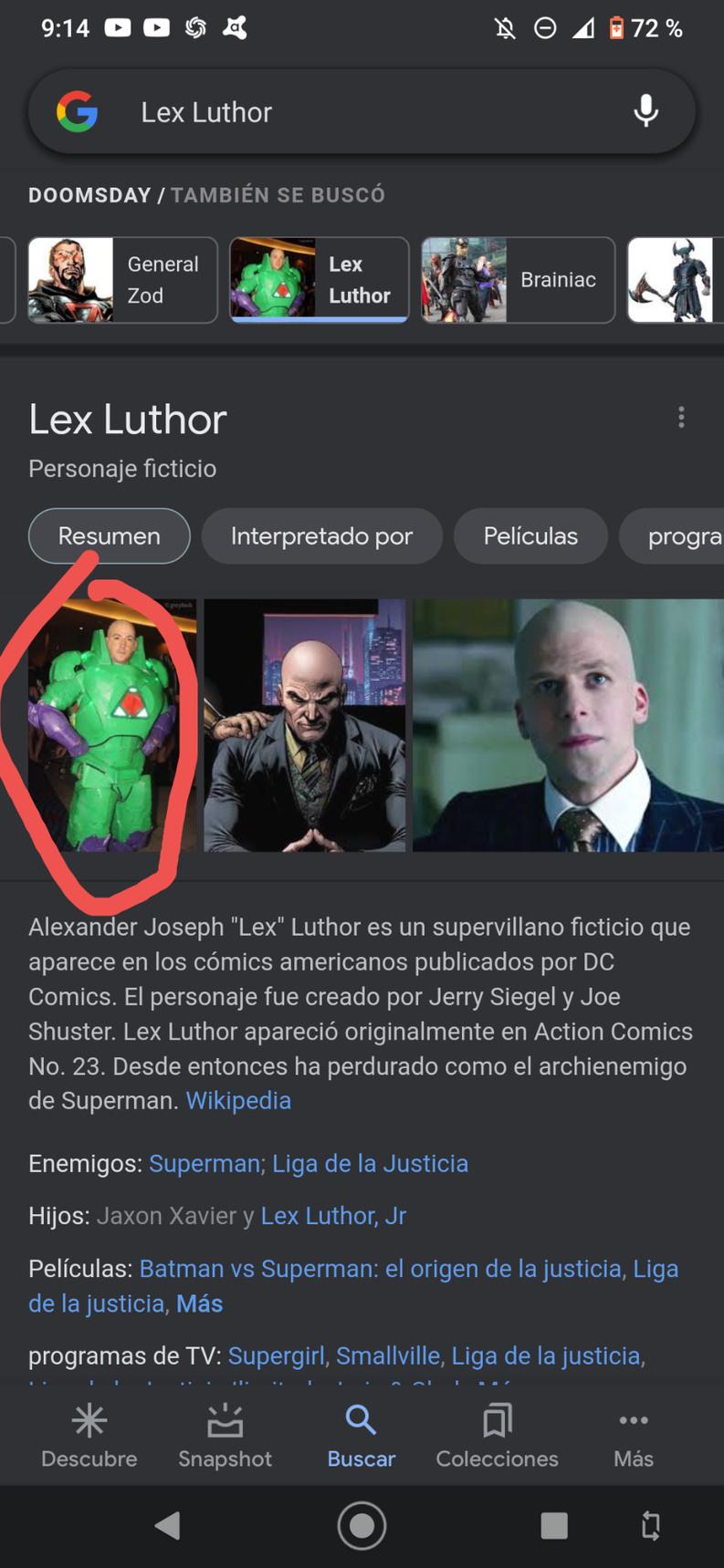 Lex Luthor mariguano - meme