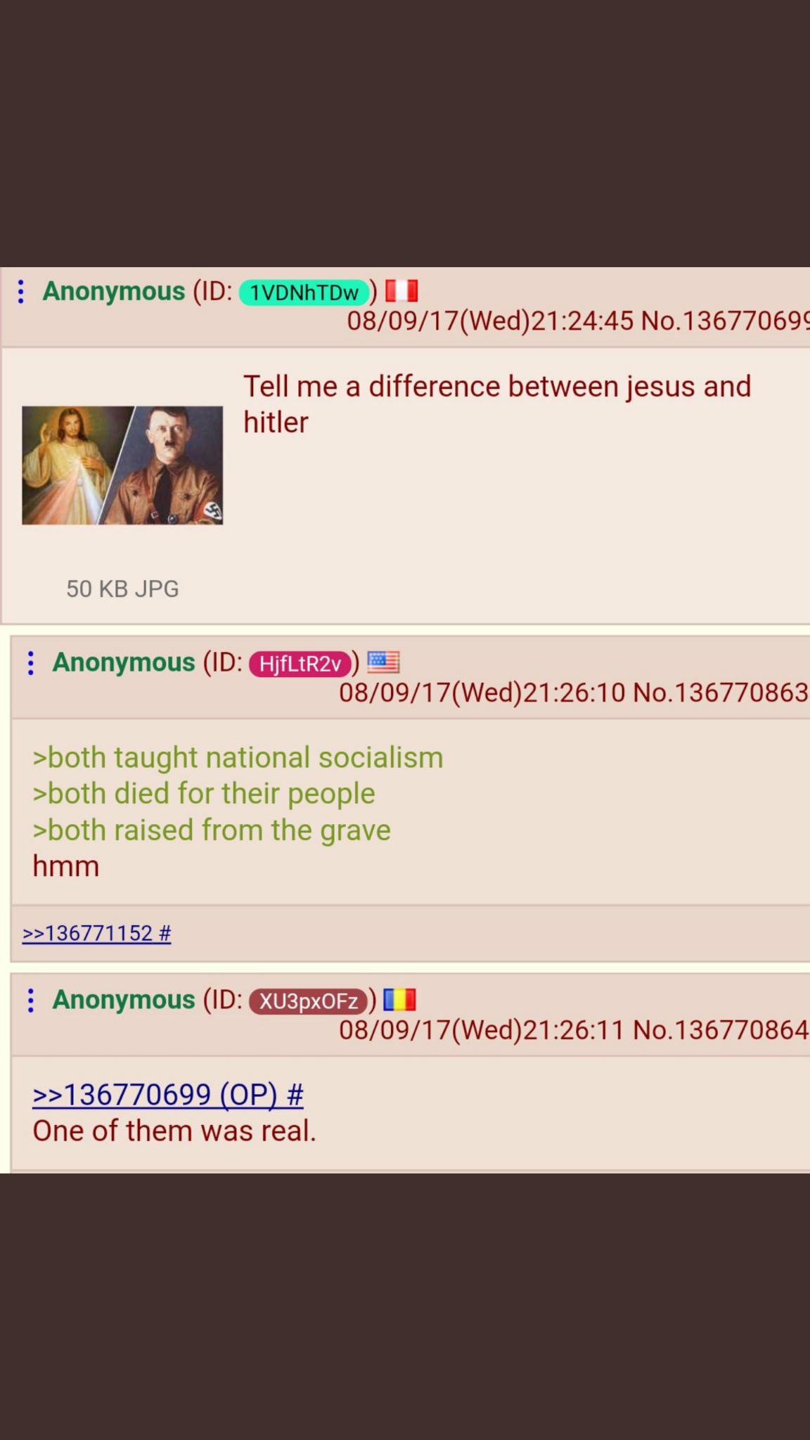 Hitler wasn't real - meme