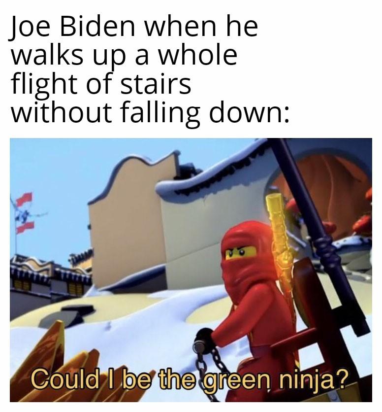 Ninja man Biden - meme