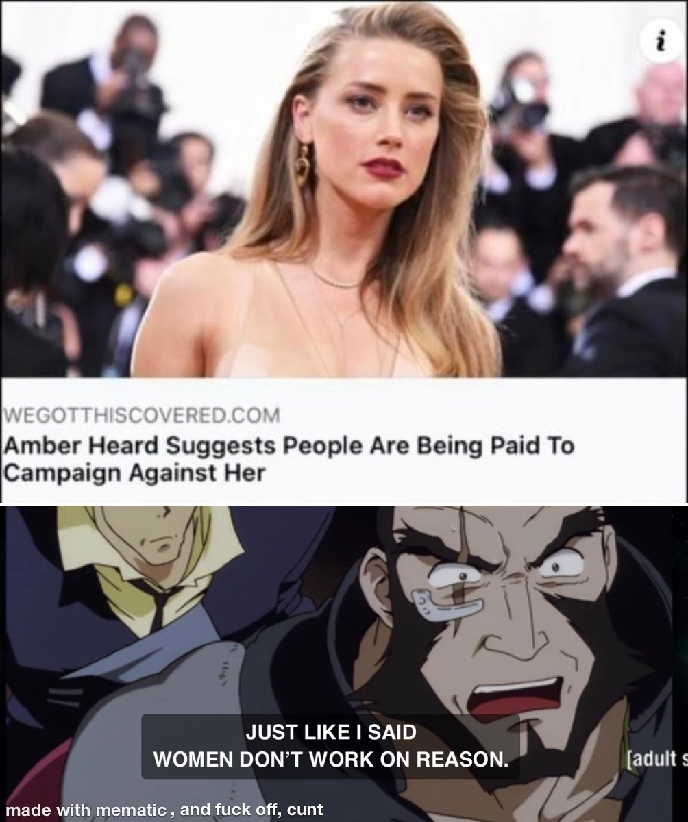 Johnny Depp isn't even all that great, it's just the Pussy Pass is real - meme