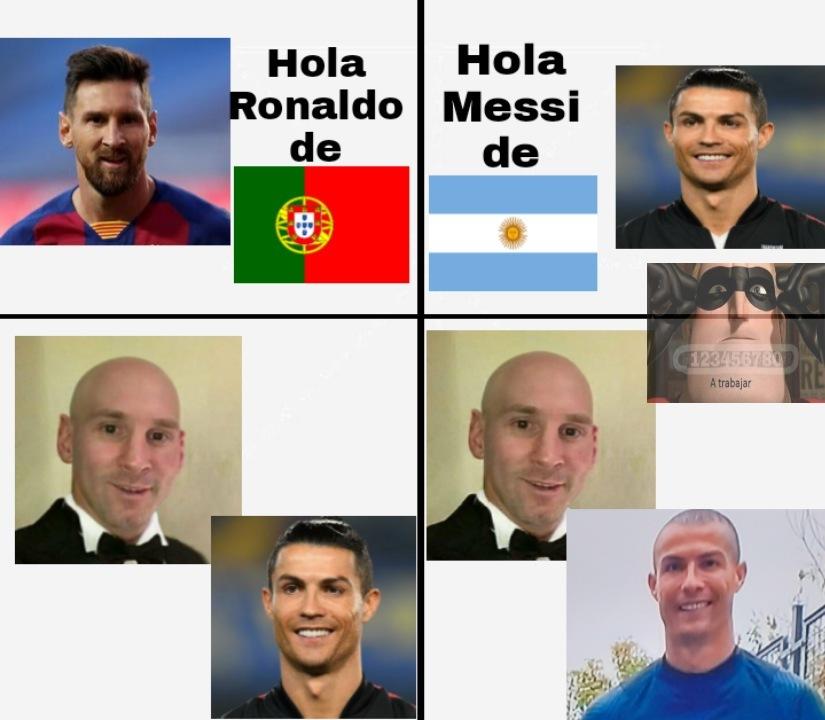 Ronaldo pelado - meme