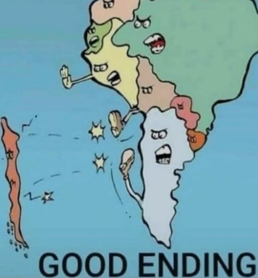 Good ending,sacamos a Chile,si es ofensivo no lo acepten - meme