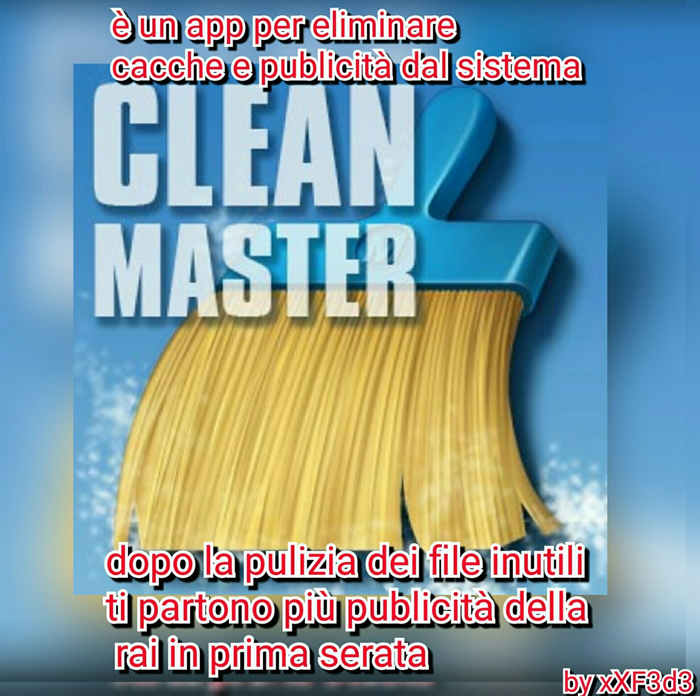 """Clean Master"" cito chi si sta masturbando!1!1!1 XD p.s. tt mmdroi - meme"