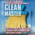 """""""Clean Master"""" cito chi si sta masturbando!1!1!1 XD p.s. tt mmdroi"""