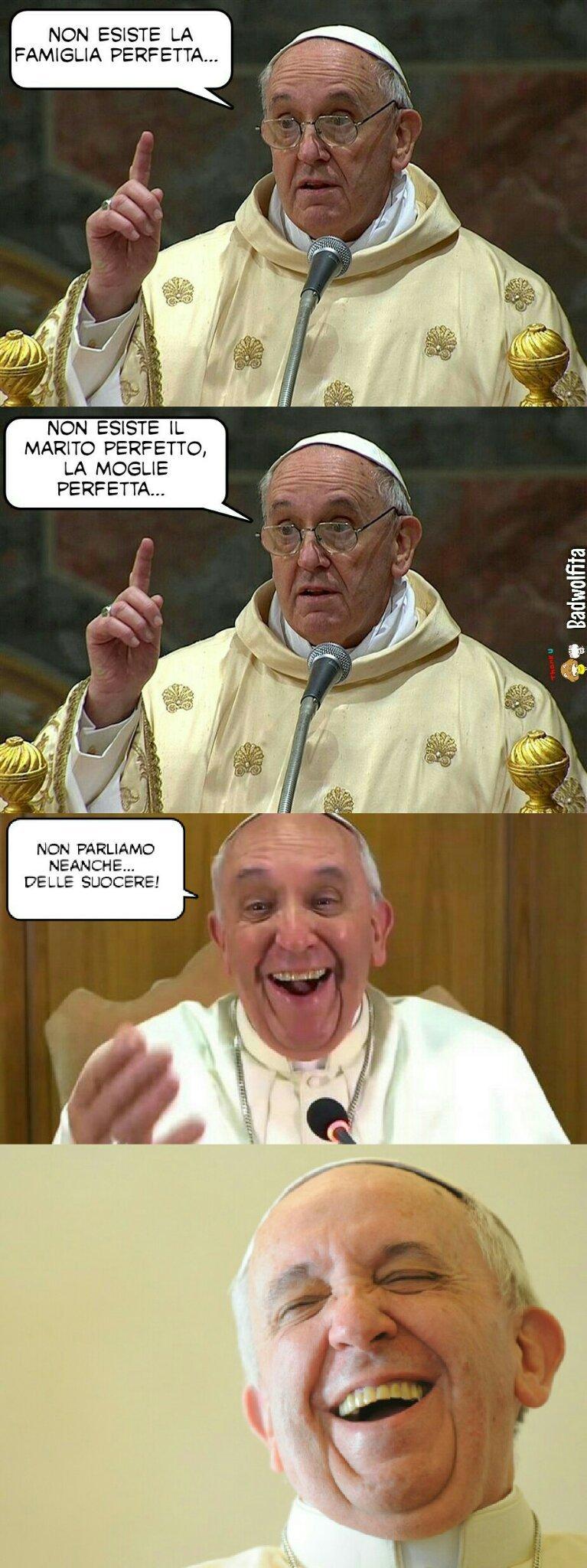 Vero discorso di papa Francesco sulle suocere - meme