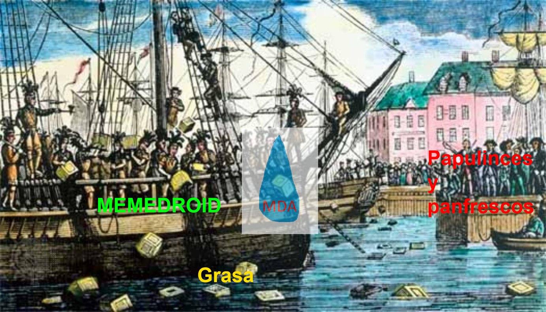 Para honrar la independencia de memedroid (no recuerdo cuando fue y no estube) y quienes no entienden es cuando los gringos tiraron el té inglés al mar)