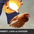 Lava vs pollo