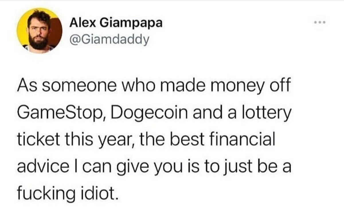 Financial Advice - meme