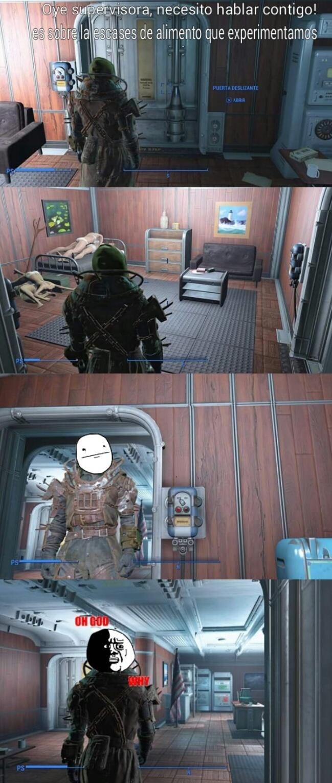 Momentos incomodos en fallout 4 ( Original ) - meme