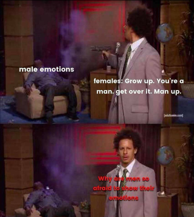 Male emotions - meme