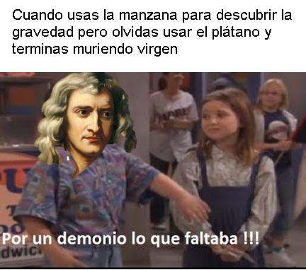 Isaac Newton - meme