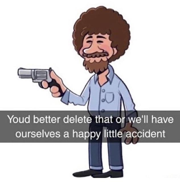 Happy little trees - meme