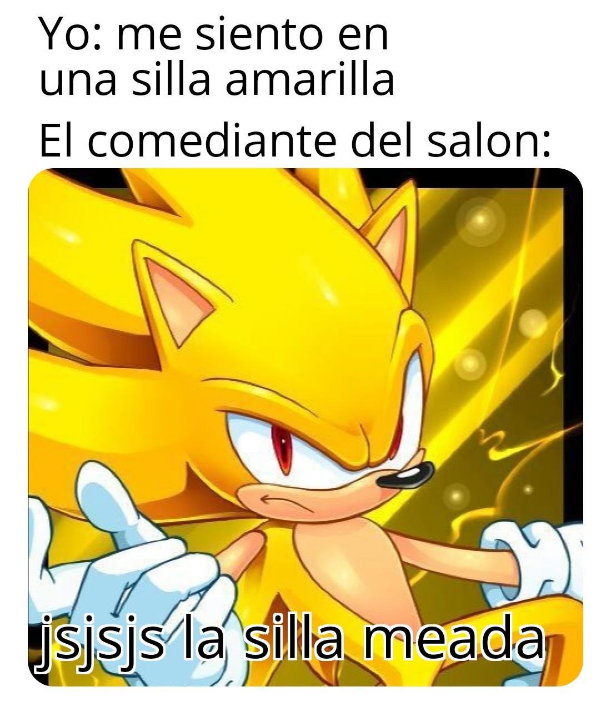 La silla meada - meme