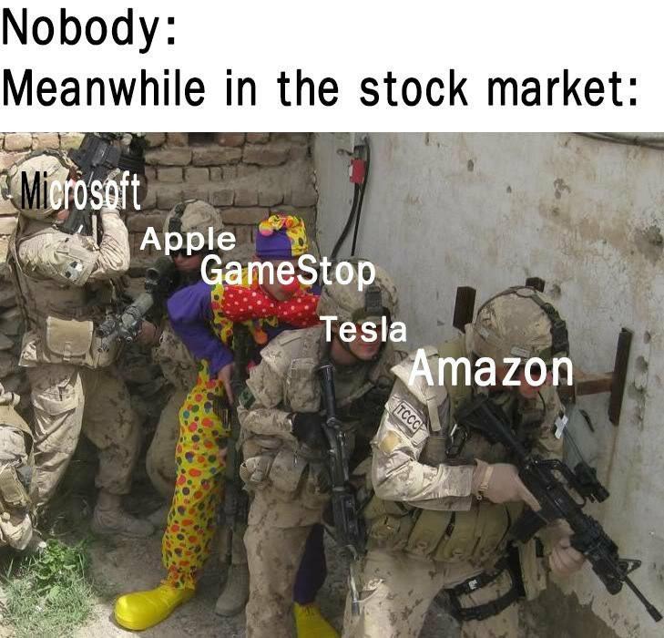 Enquanto isso na bolsa de valores: - meme