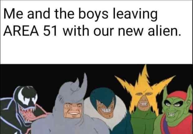 area 51 alien - meme