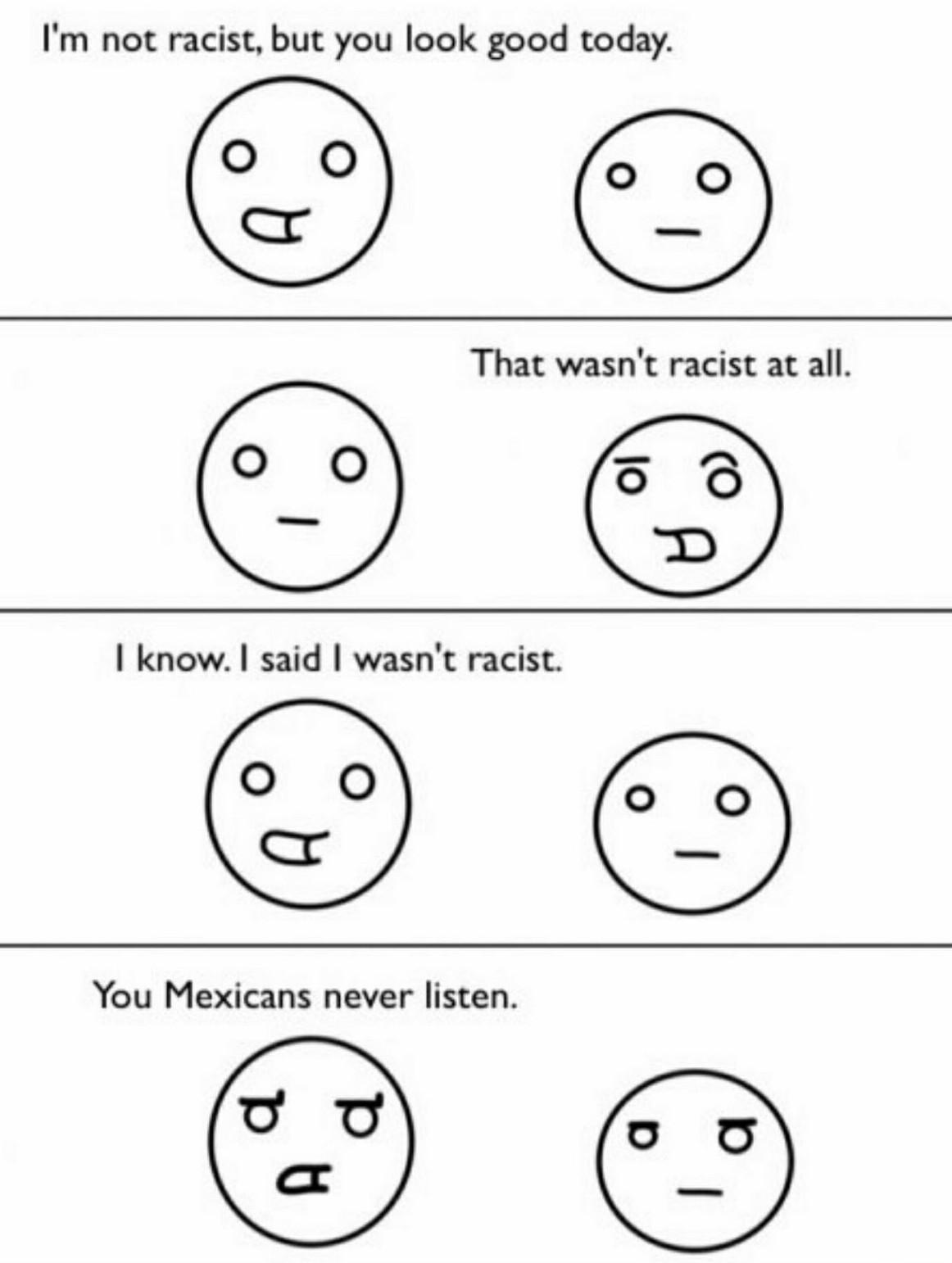 Fucking racist - meme