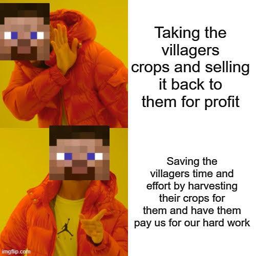 Minecraft Players be like - meme