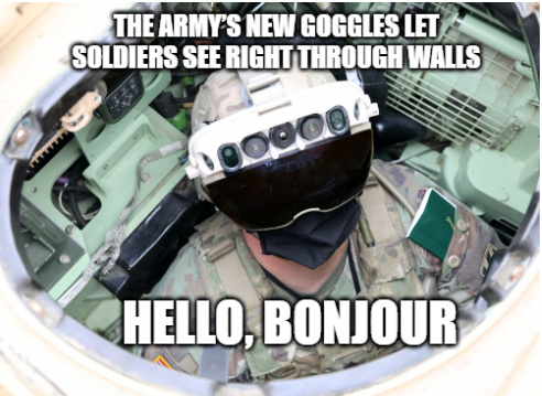 US Army IVAS Googles lets you see through walls - meme